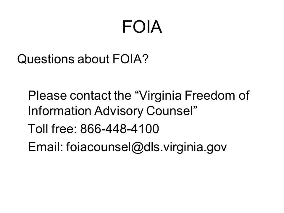 FOIA Questions about FOIA