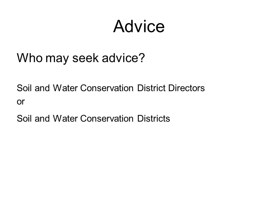 Advice Who may seek advice