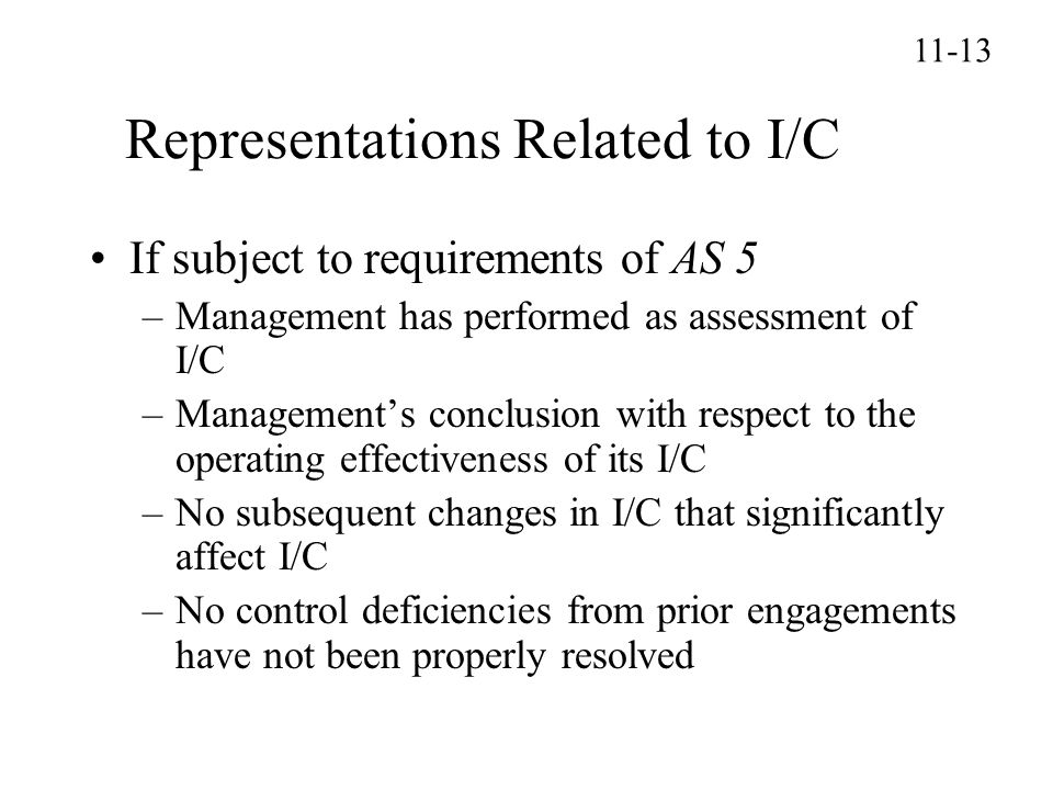 Representations Related to I/C