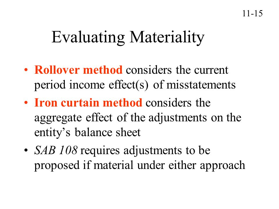 Evaluating Materiality