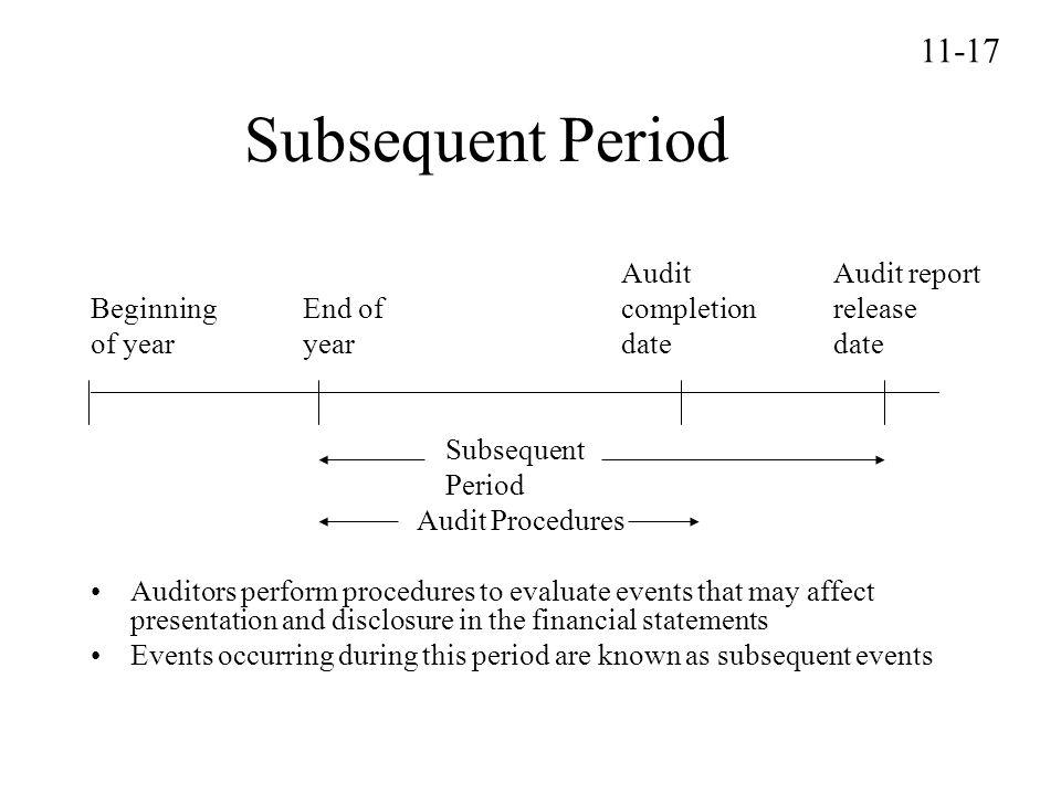 Subsequent Period 11-17 Audit Audit report
