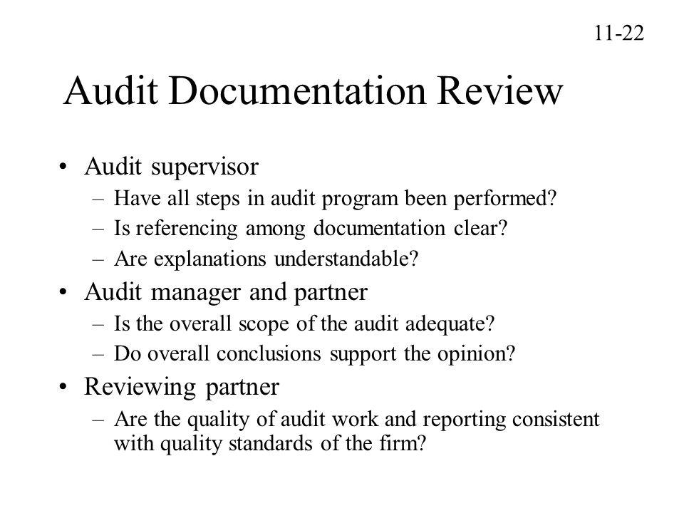 Audit Documentation Review