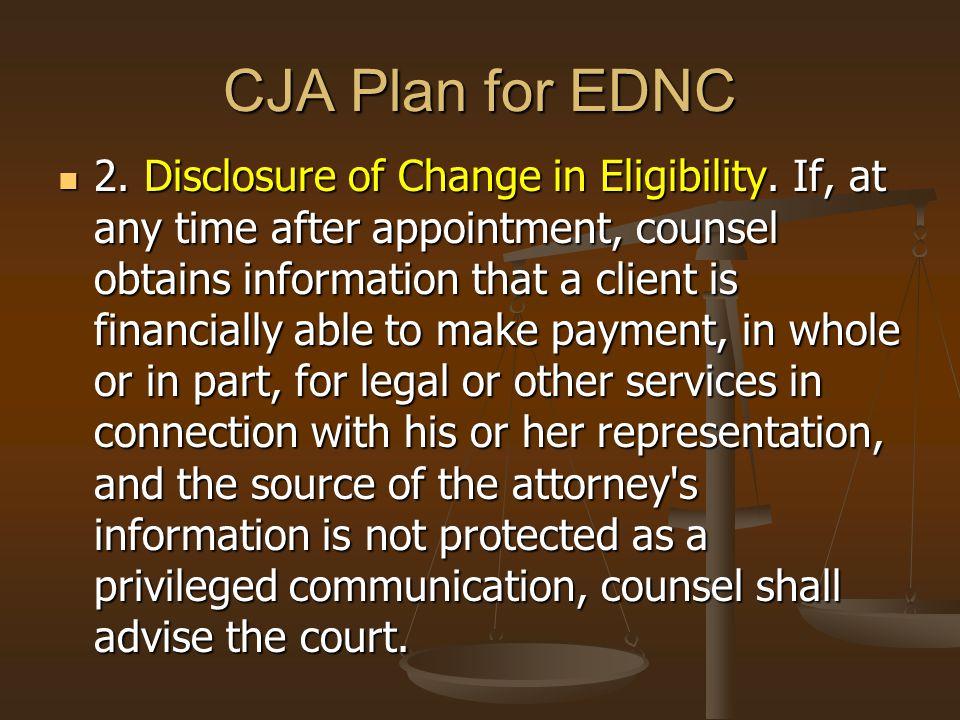 CJA Plan for EDNC