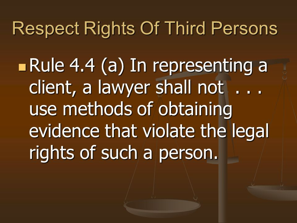 Respect Rights Of Third Persons