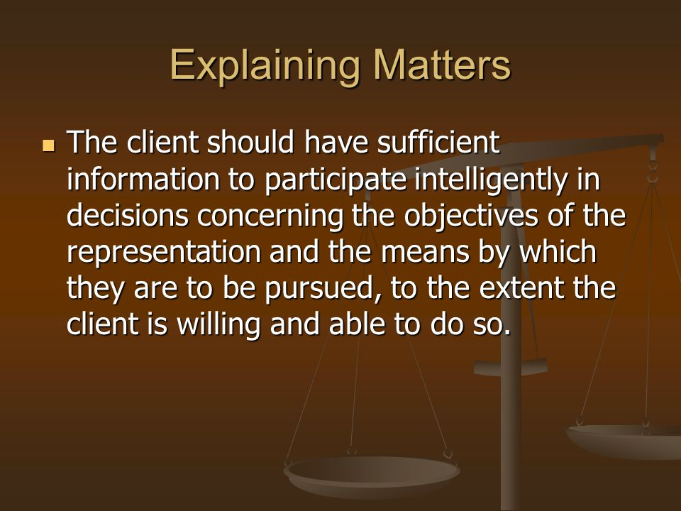 Explaining Matters