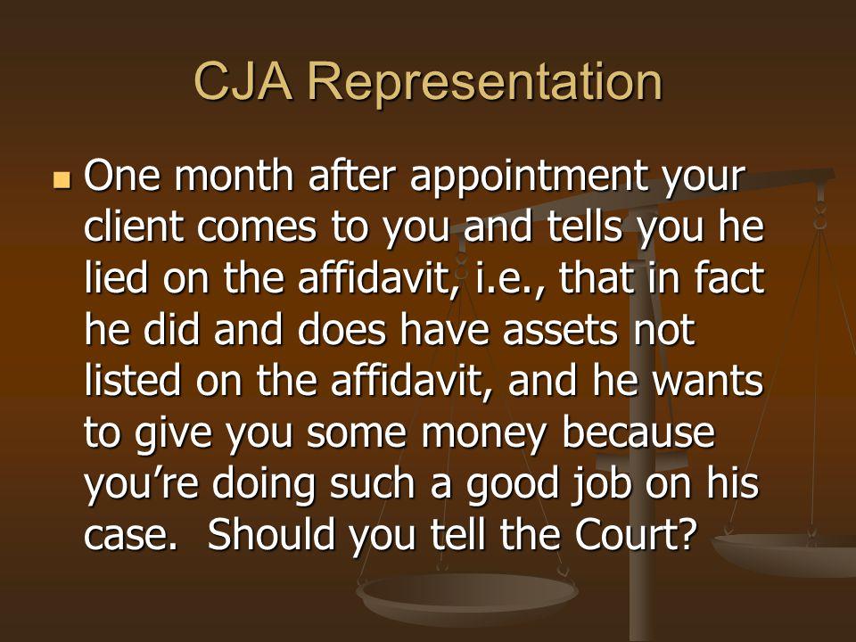 CJA Representation