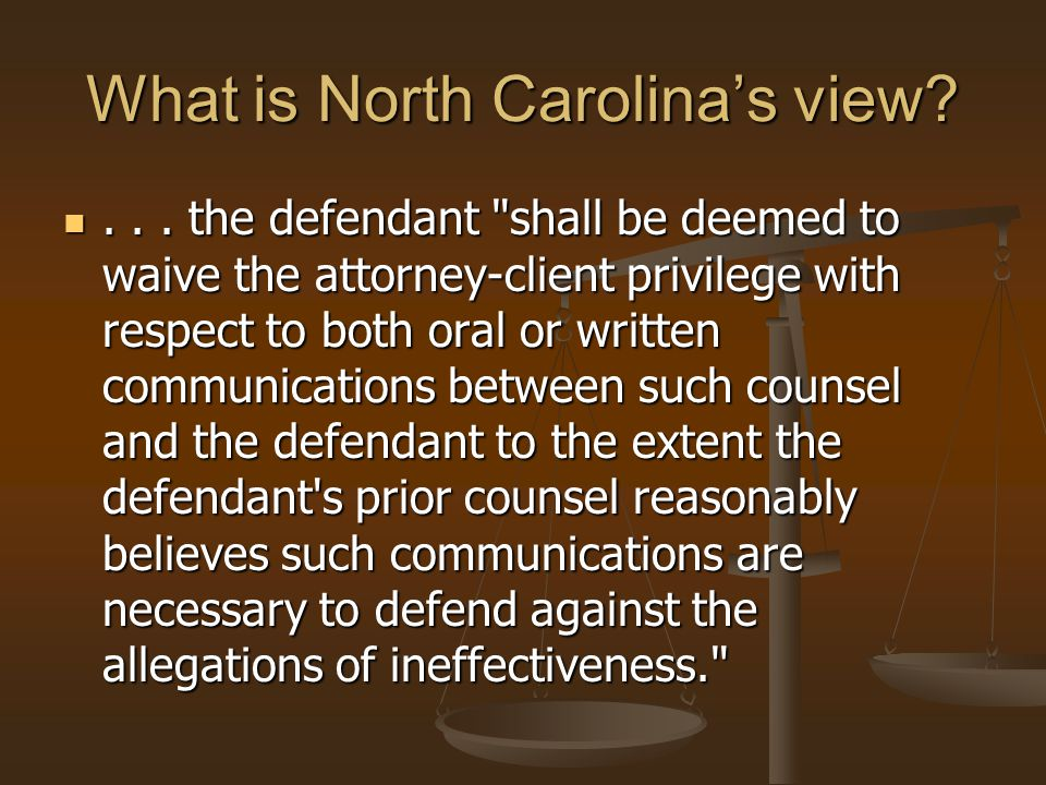 What is North Carolina's view