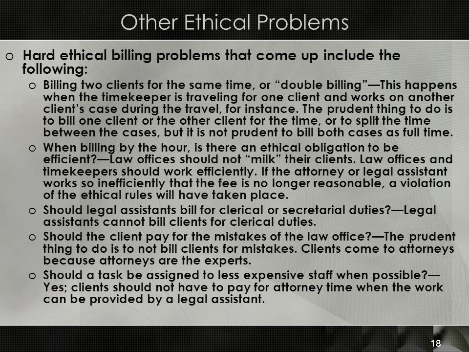 Other Ethical Problems