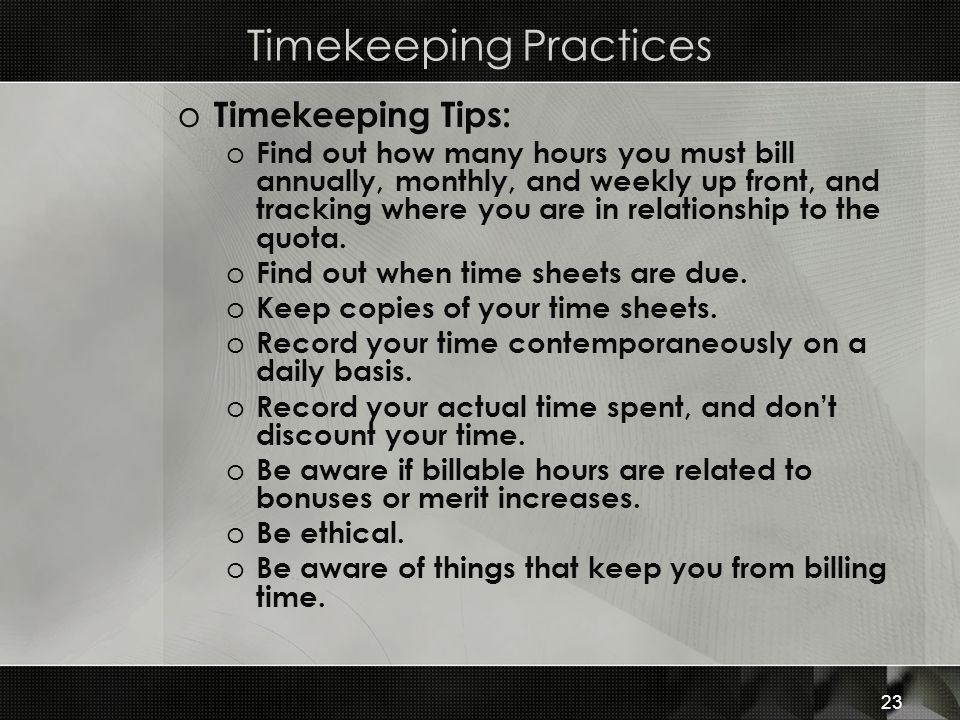 Timekeeping Practices