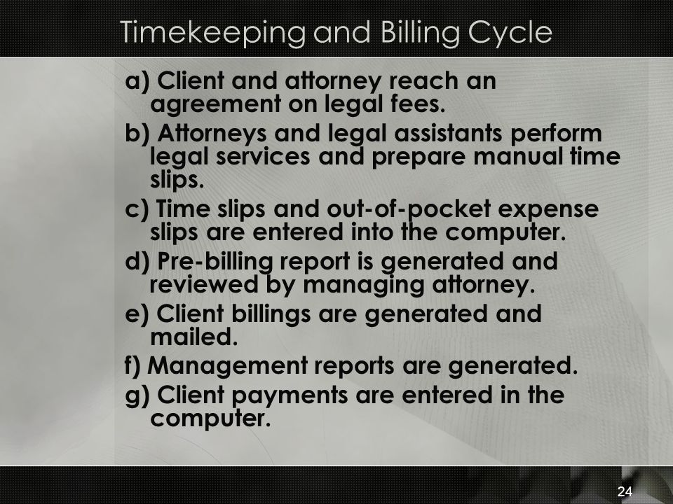 Timekeeping and Billing Cycle