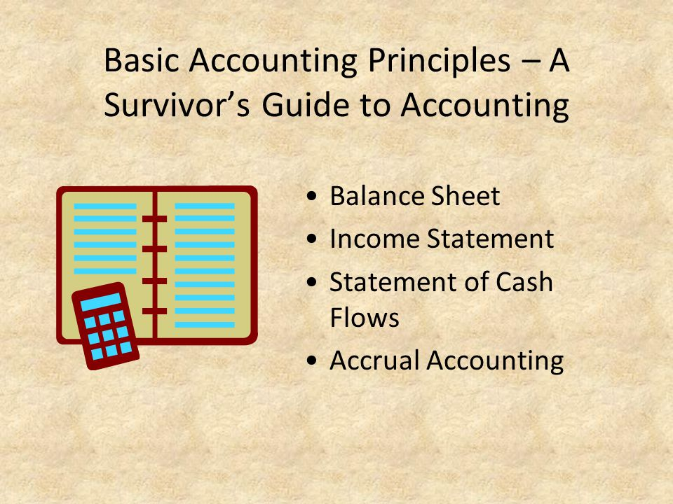 Basic Accounting Principles – A Survivor's Guide to Accounting