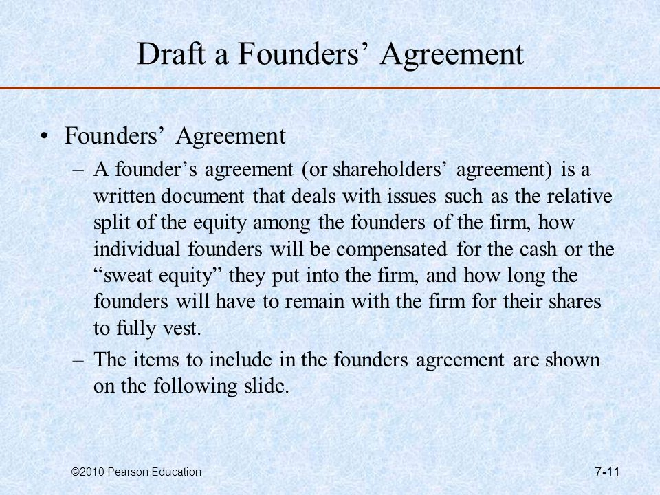 Draft a Founders' Agreement