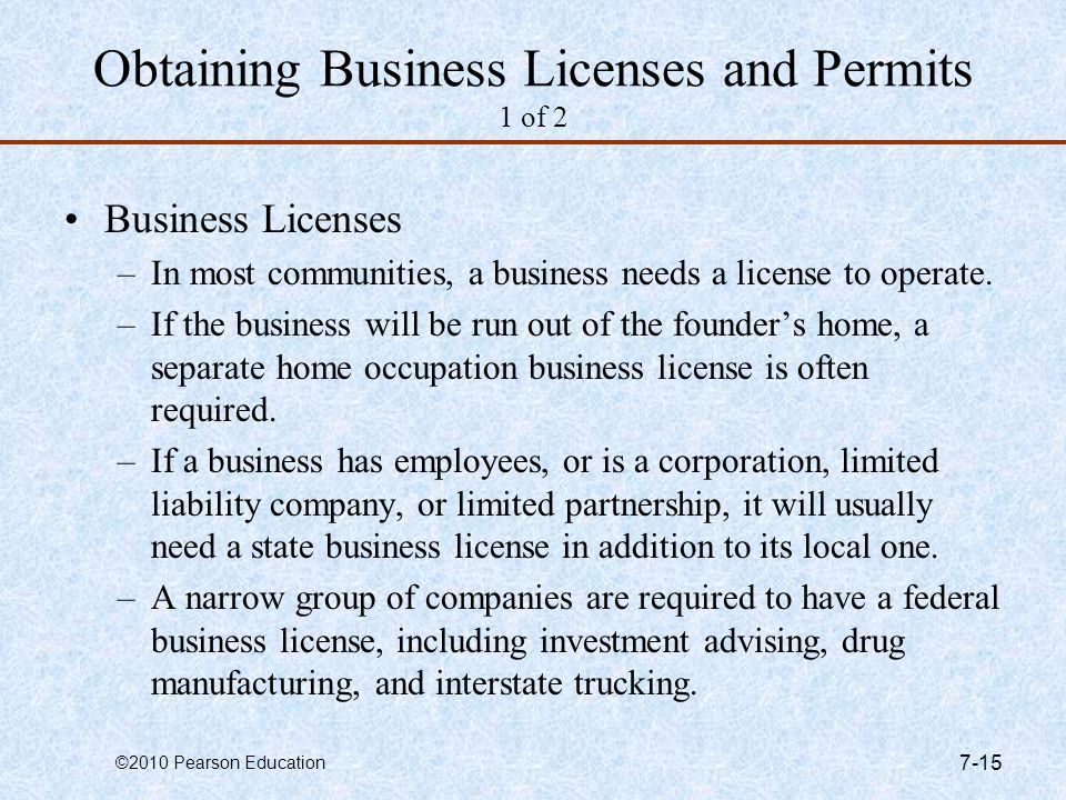 Obtaining Business Licenses and Permits 1 of 2