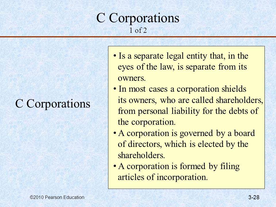 C Corporations 1 of 2 C Corporations