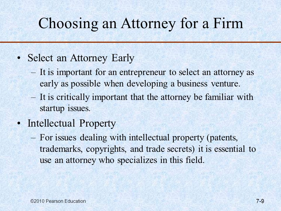 Choosing an Attorney for a Firm