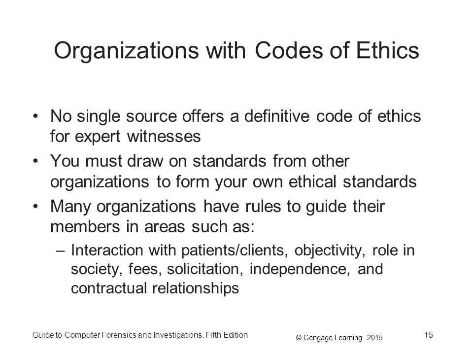Organizations with Codes of Ethics