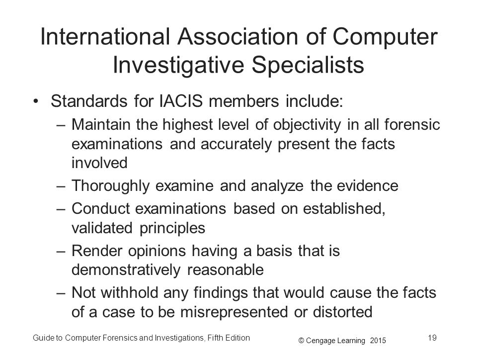 International Association of Computer Investigative Specialists