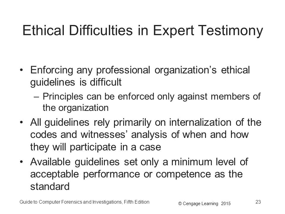 Ethical Difficulties in Expert Testimony