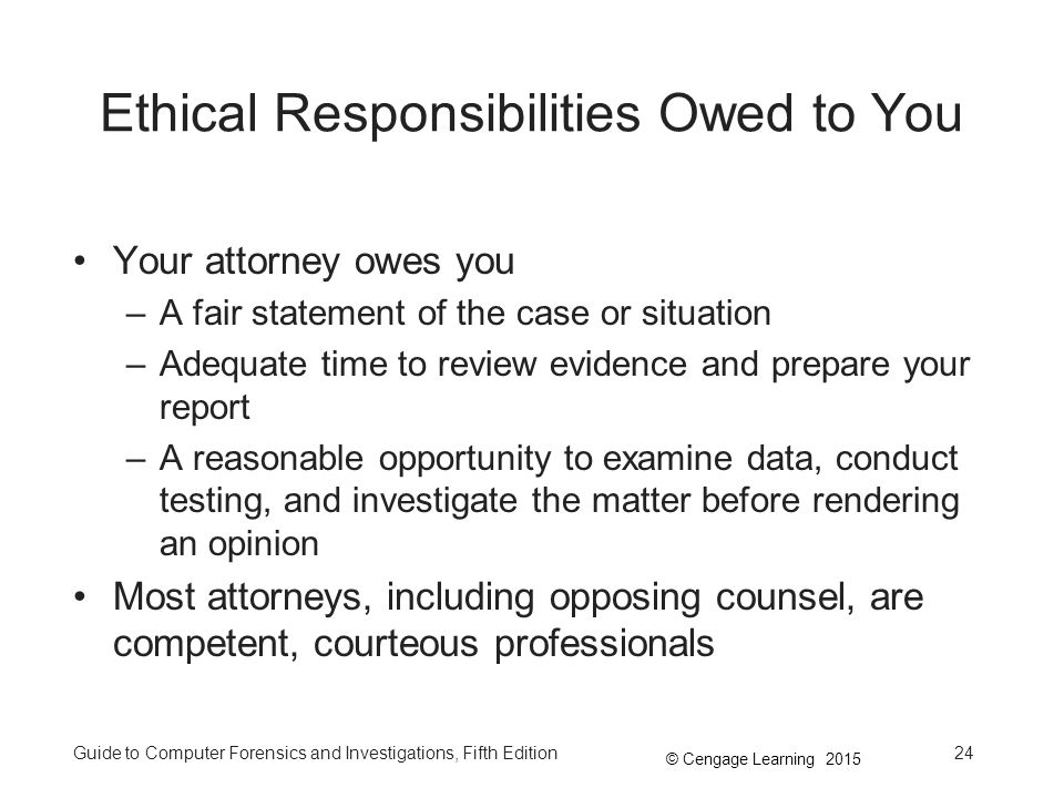 Ethical Responsibilities Owed to You