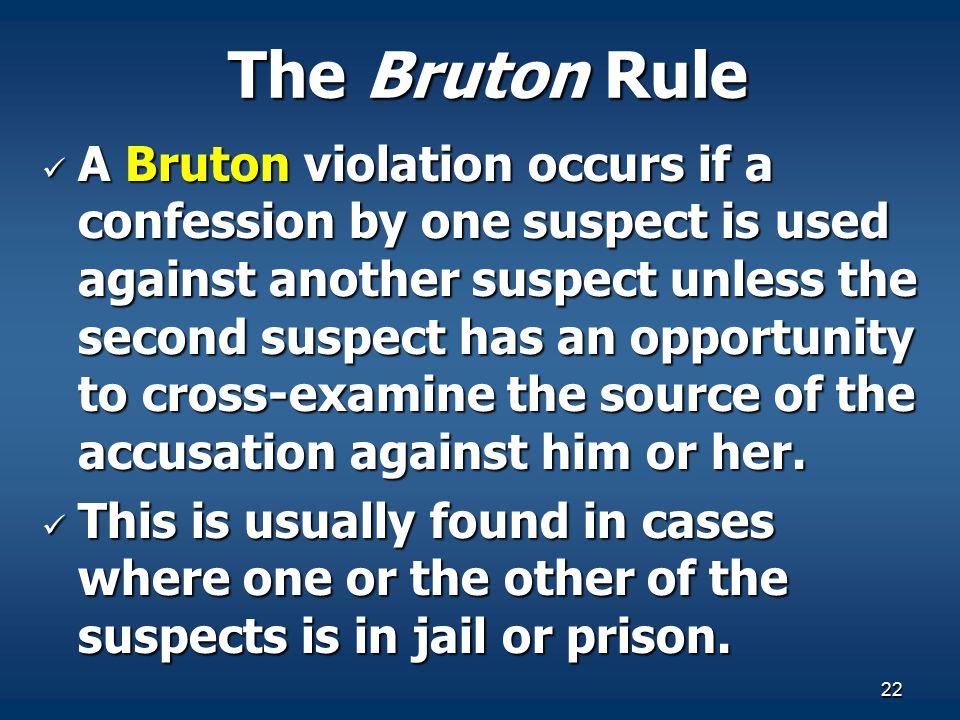 The Bruton Rule
