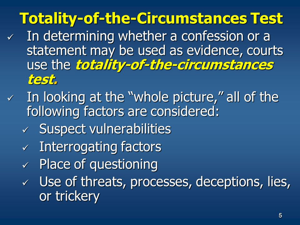Totality-of-the-Circumstances Test