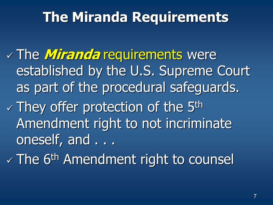 The Miranda Requirements