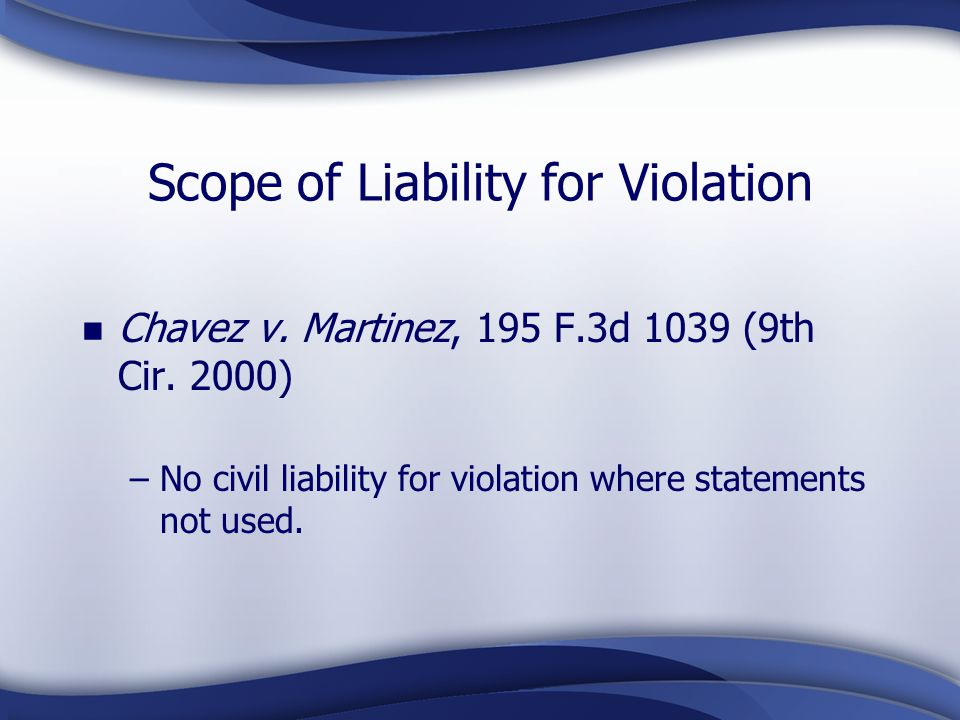 Scope of Liability for Violation