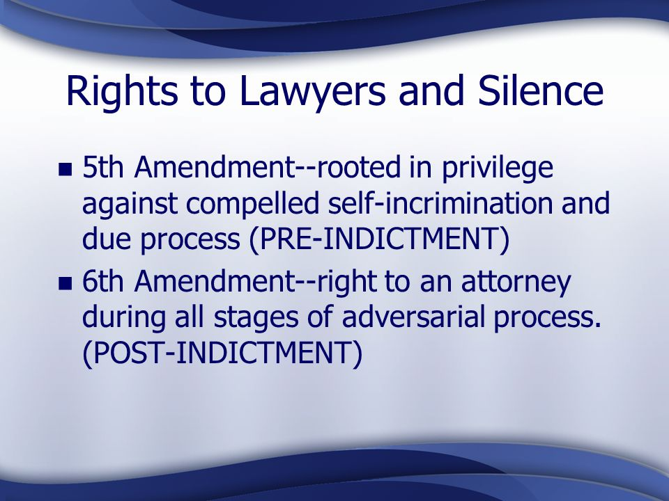 Rights to Lawyers and Silence