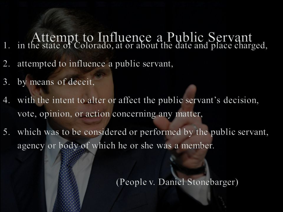 Attempt to Influence a Public Servant