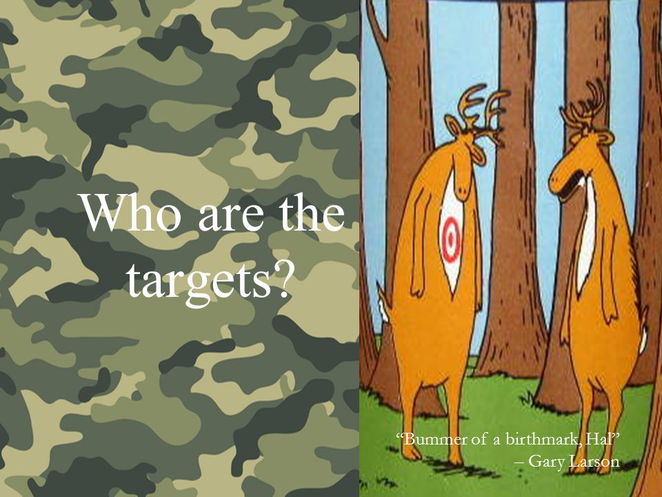Who are the targets Bummer of a birthmark, Hal – Gary Larson