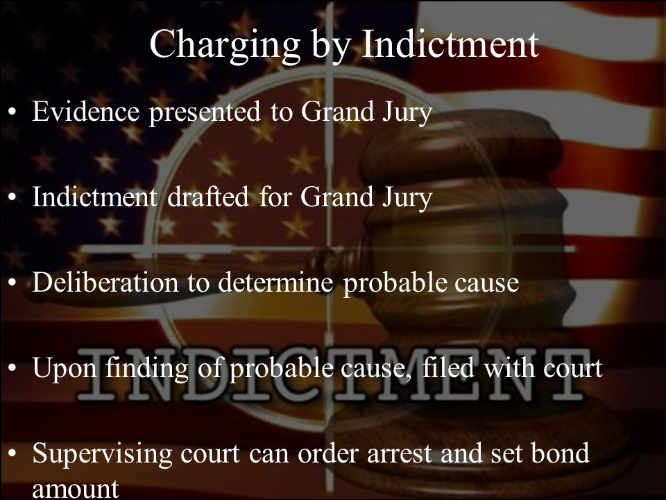 Charging by Indictment