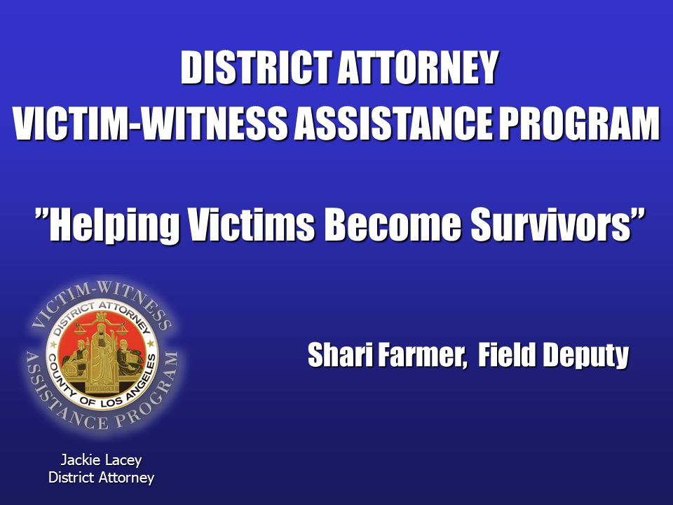 VICTIM-WITNESS ASSISTANCE PROGRAM