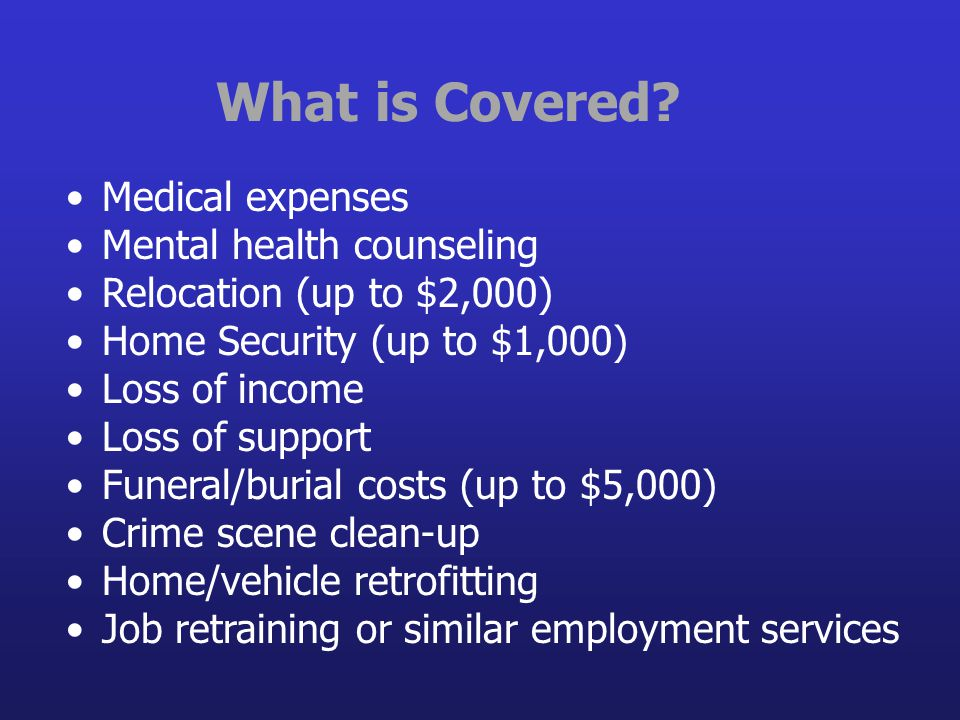 What is Covered Medical expenses Mental health counseling