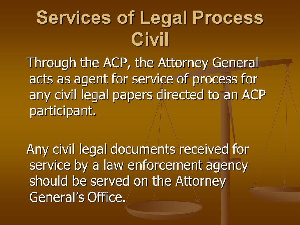 Services of Legal Process Civil