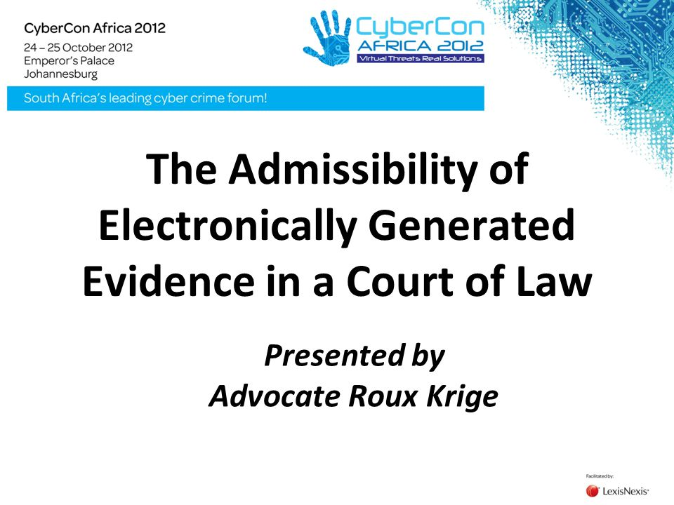 Presented by Advocate Roux Krige