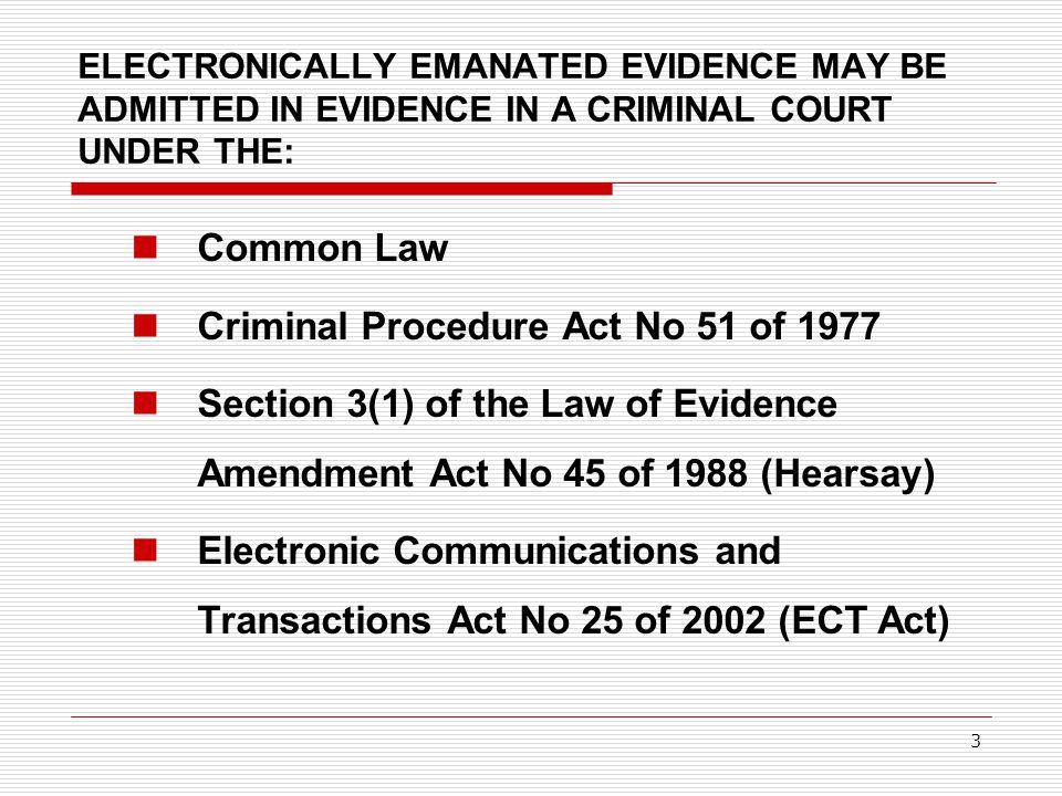 Criminal Procedure Act No 51 of 1977
