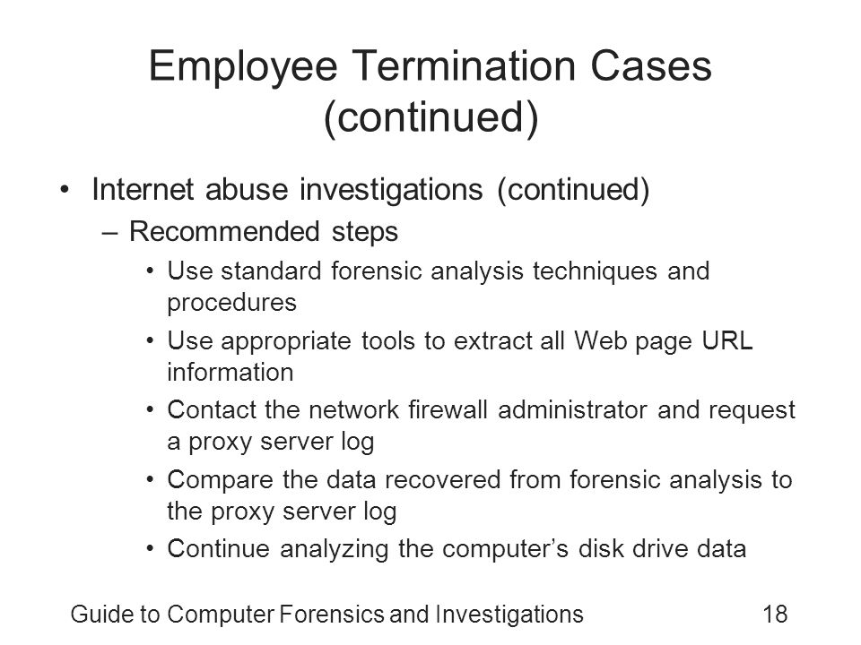 Employee Termination Cases (continued)