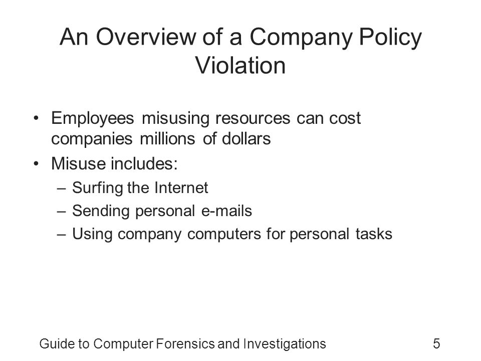 An Overview of a Company Policy Violation