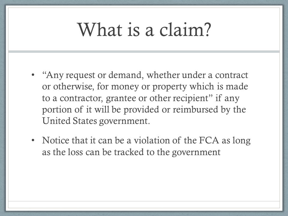 What is a claim