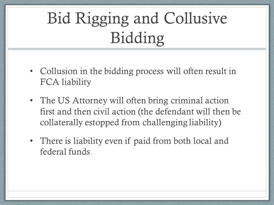 Bid Rigging and Collusive Bidding