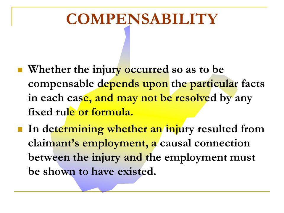 COMPENSABILITY