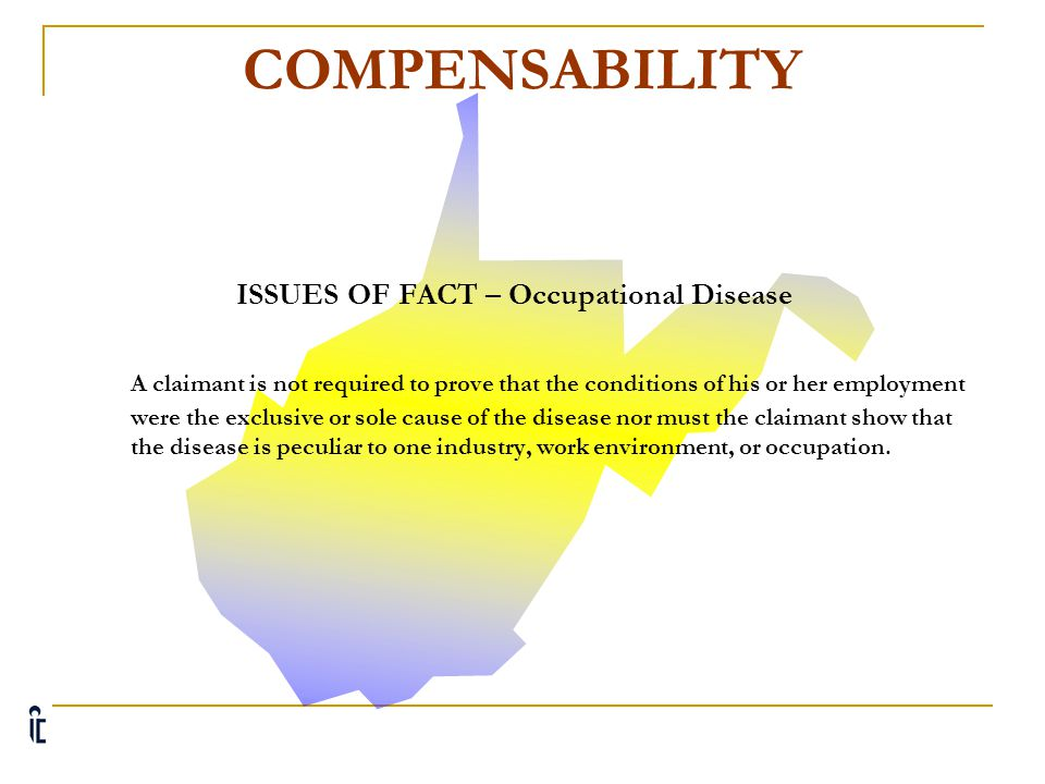 ISSUES OF FACT – Occupational Disease