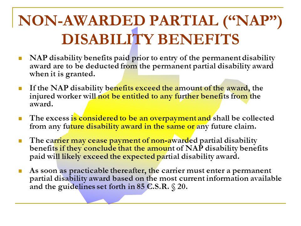 NON-AWARDED PARTIAL ( NAP ) DISABILITY BENEFITS
