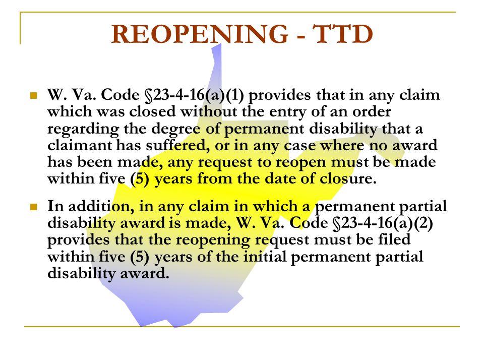REOPENING - TTD