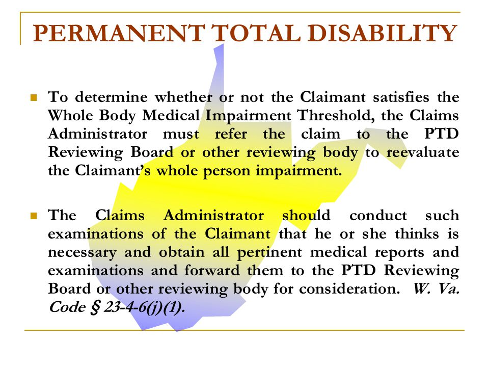 PERMANENT TOTAL DISABILITY
