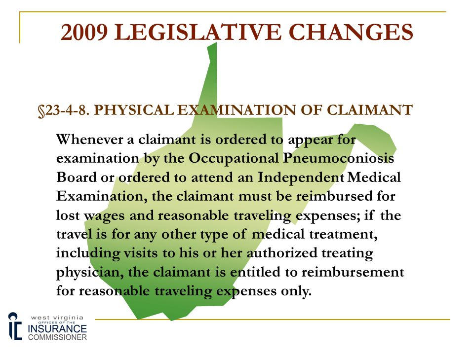 §23-4-8. PHYSICAL EXAMINATION OF CLAIMANT