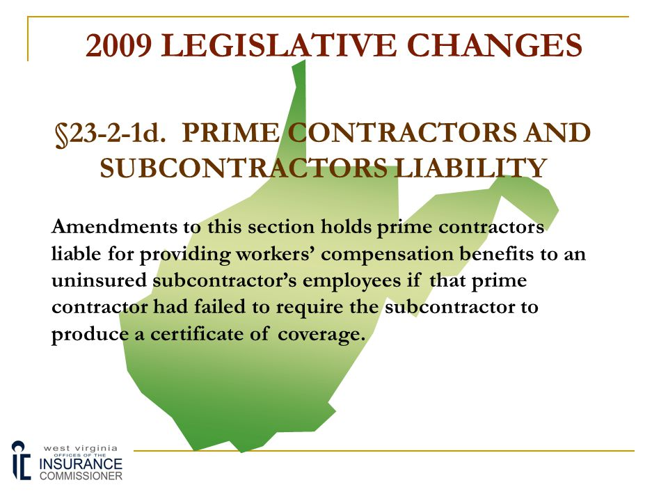 §23-2-1d. PRIME CONTRACTORS AND SUBCONTRACTORS LIABILITY