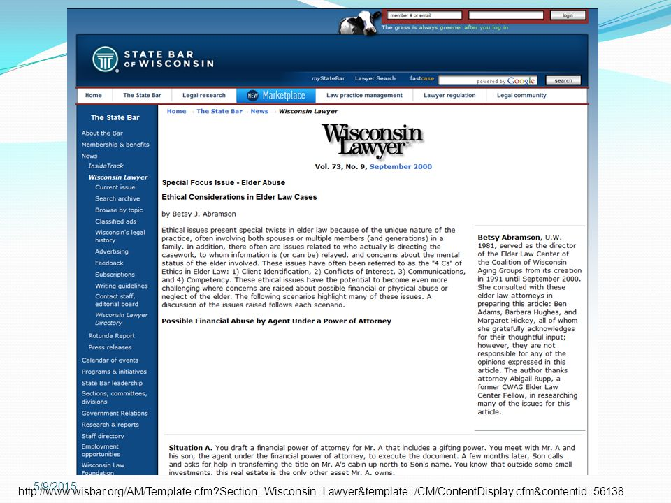 4/15/2017 http://www.wisbar.org/AM/Template.cfm Section=Wisconsin_Lawyer&template=/CM/ContentDisplay.cfm&contentid=56138.