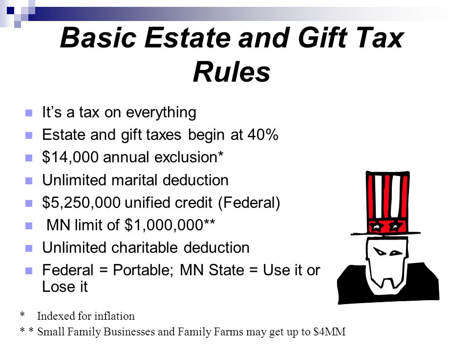 Basic Estate and Gift Tax Rules