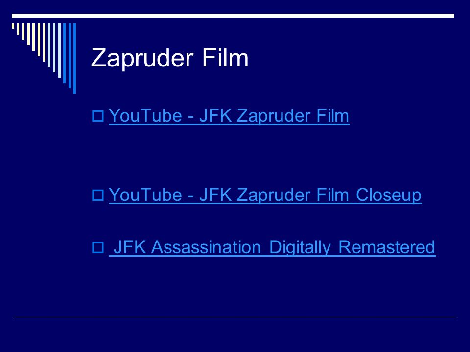 Zapruder Film YouTube - JFK Zapruder Film
